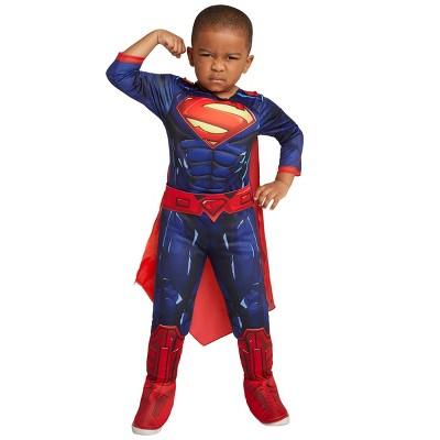Toddler Deluxe DC Comics Justice League Superman Halloween Costume Muscle Bodysuit