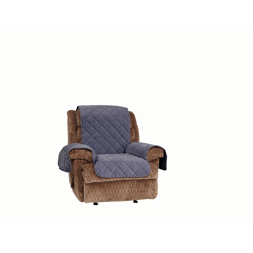 Comfort Memory Foam Recliner Furniture Cover Storm Blue Sure Fit