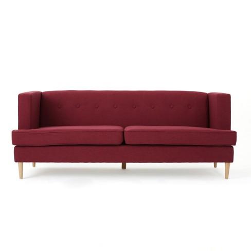 Milton Mid Century Modern Sofa Deep Red Target