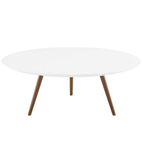 """40"""" Lippa Round Artificial Marble Coffee Table with Tripod Base Gold/White - Modway - image 1 of 4"""