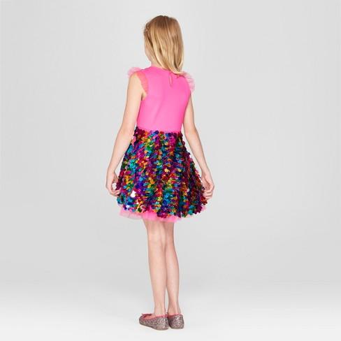 45e1e04aa9 Girls' Nickelodeon JoJo's Closet Sequin Dress - Pink : Target
