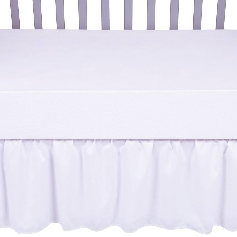 Sammy 38 Lou Crib Skirt White