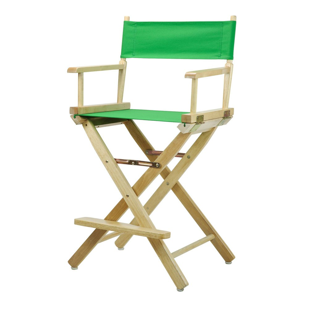 Director S Chair Counter Height Canvas Green Natural Flora Homes