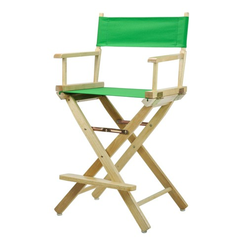 Director's Chair Counter Height Canvas Green/Natural Flora Homes