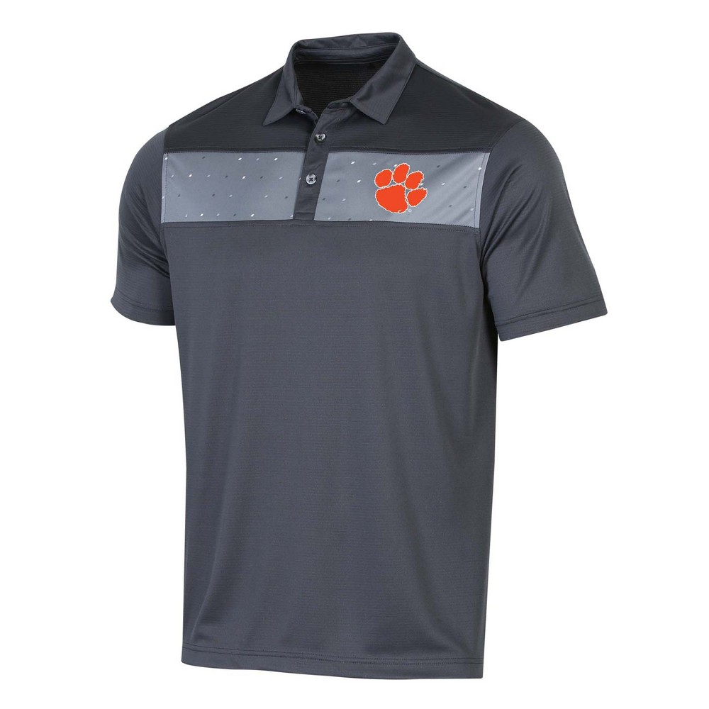 NCAA Men's Short Sleeve Polo Shirt Clemson Tigers - M, Multicolored