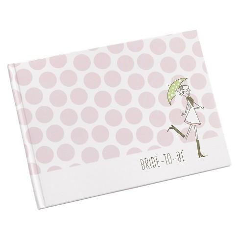 bridal shower polka dot guest book pink target
