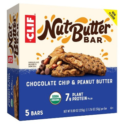 Clif Nut Butter Bar Chocolate Chip and Peanut Butter - 8.8oz