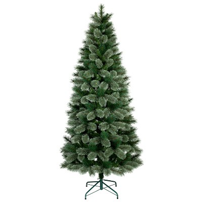 7ft Unlit Slim Artificial Christmas Tree Evergreen Virginia Pine - Wondershop™