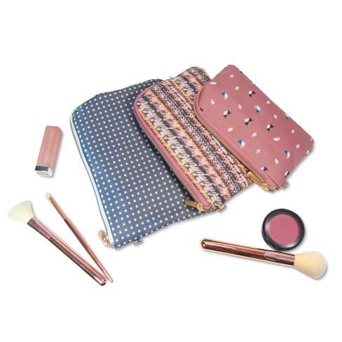 01f256ef525b Sonia Kashuk™ Cosmetic Bag Purse Kit Broken Houndstooth Mix - 3pc   Target