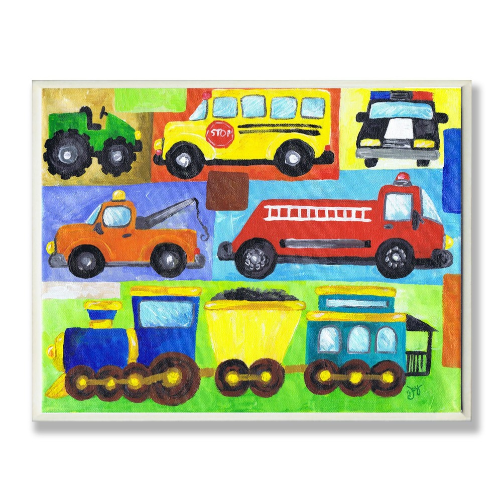 Transportation Collage Wall Plaque Art (12.5x18.5