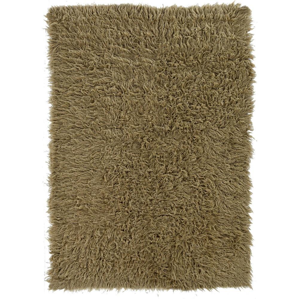 Discounts 5x8 100% New Zealand Wool Flokati Area Rug Mushroom - Linon