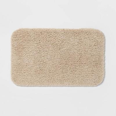 "20""x34"" Perfectly Soft Nylon Solid Bath Rug Sandalwood - Opalhouse™"