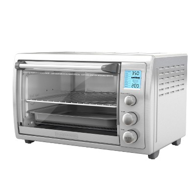 BLACK+DECKER No Preheat Toaster Oven - Stainless Steel