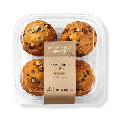 Chocolate Chip Muffins - 14oz/4ct - Favorite Day™