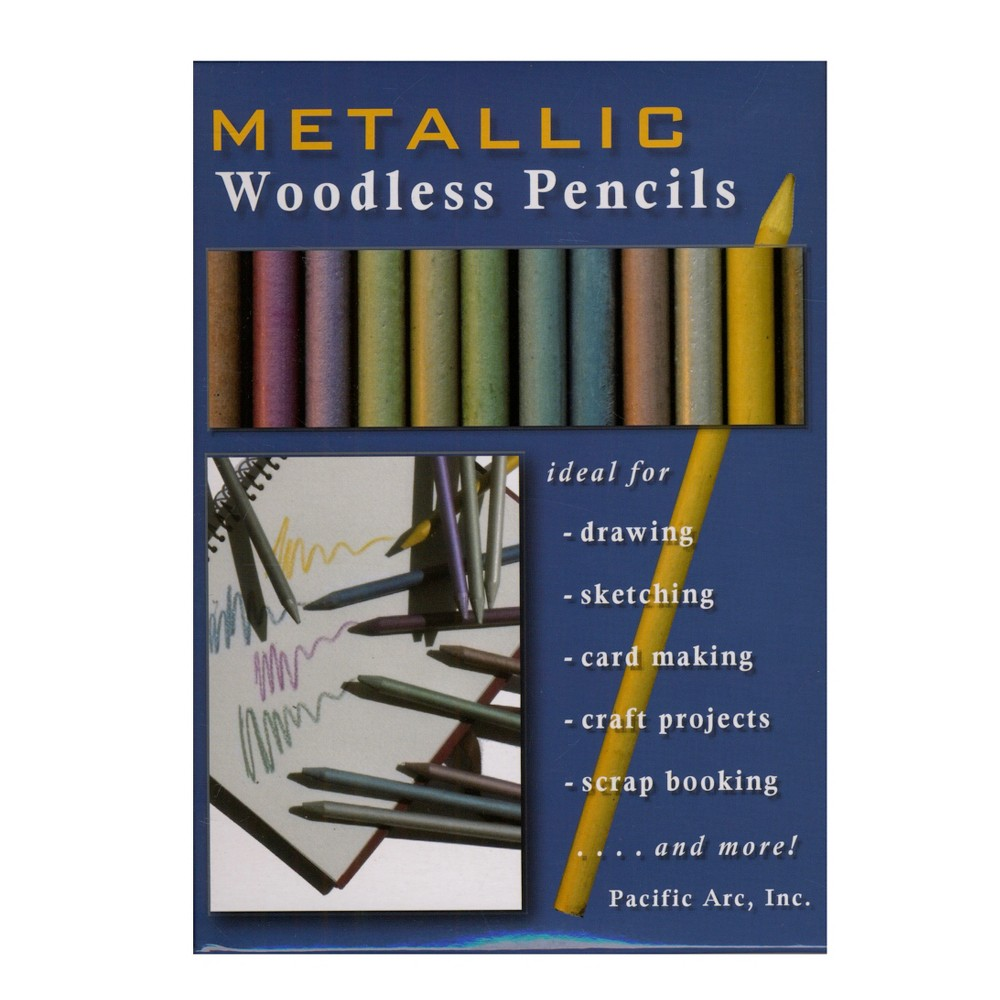 Image of Woodless Graphite Drawing Pencils Metallics 12ct - Pacific Arc