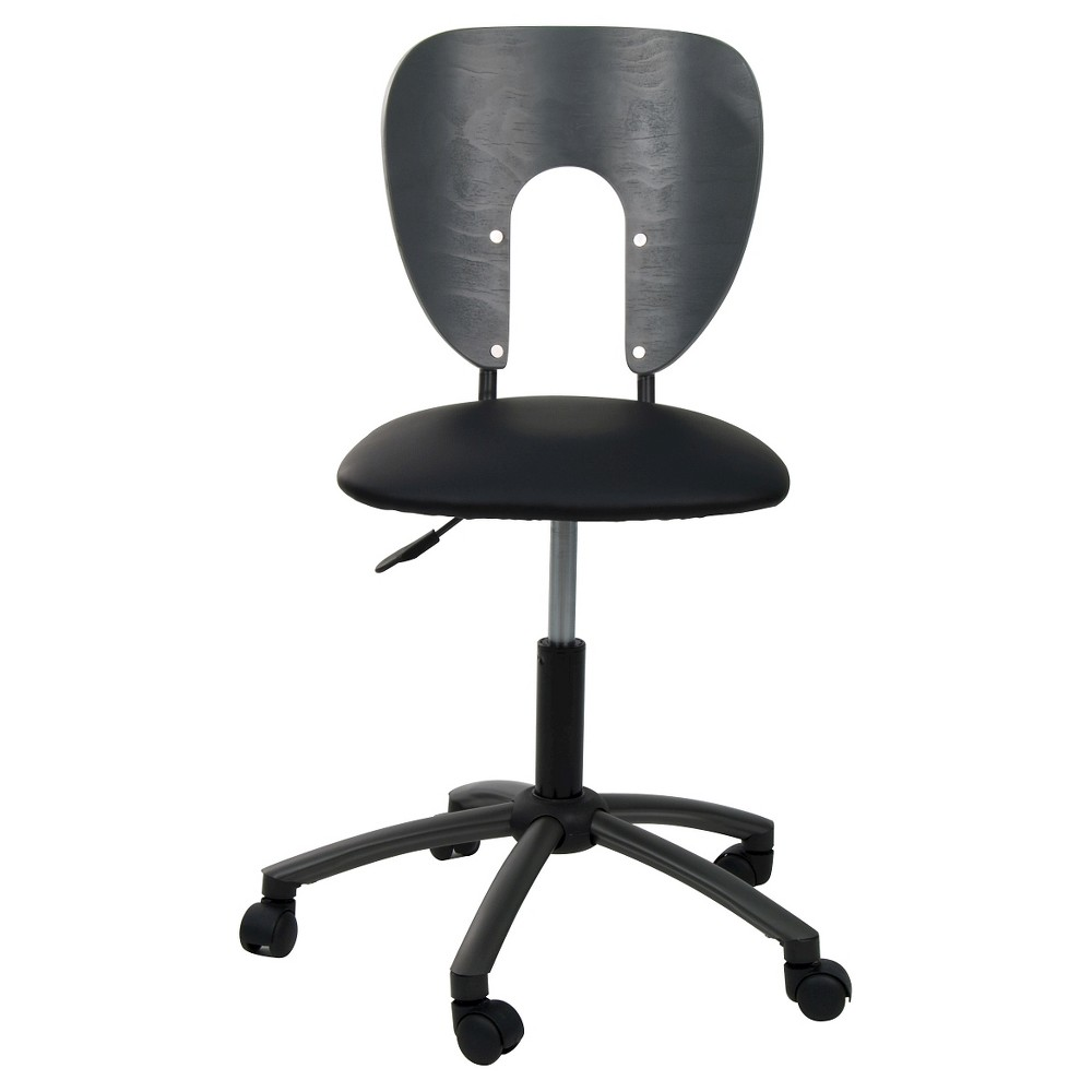 The unique contemporary design of the Futura / Vision Chair makes it a fashionable and functional option for the home or office. Its pneumatic seat sits on a five-star metal base and is adjustable in height (max 23\\\'\\\'). 5 wheel casters allow for easy mobility. Meets/Exceeds ANSI/BIFMA industry standard. Available in Silver # 10052 or Pewter/Black #10657 . Gender: unisex. Pattern: Solid.