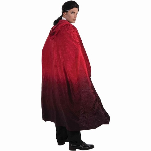 "Forum Novelties 56"" Red Two Tone Faded Vampire Cape Costume Accessory - image 1 of 1"