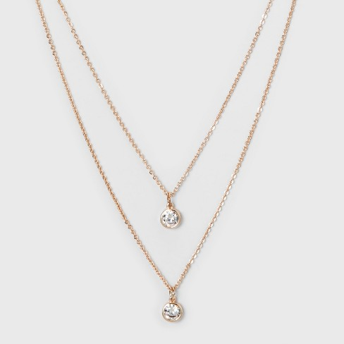 Round Stone Short Necklace A New Day Rose Gold Target