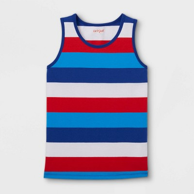 Boys' Striped Tank Top - Cat & Jack™ Red/White