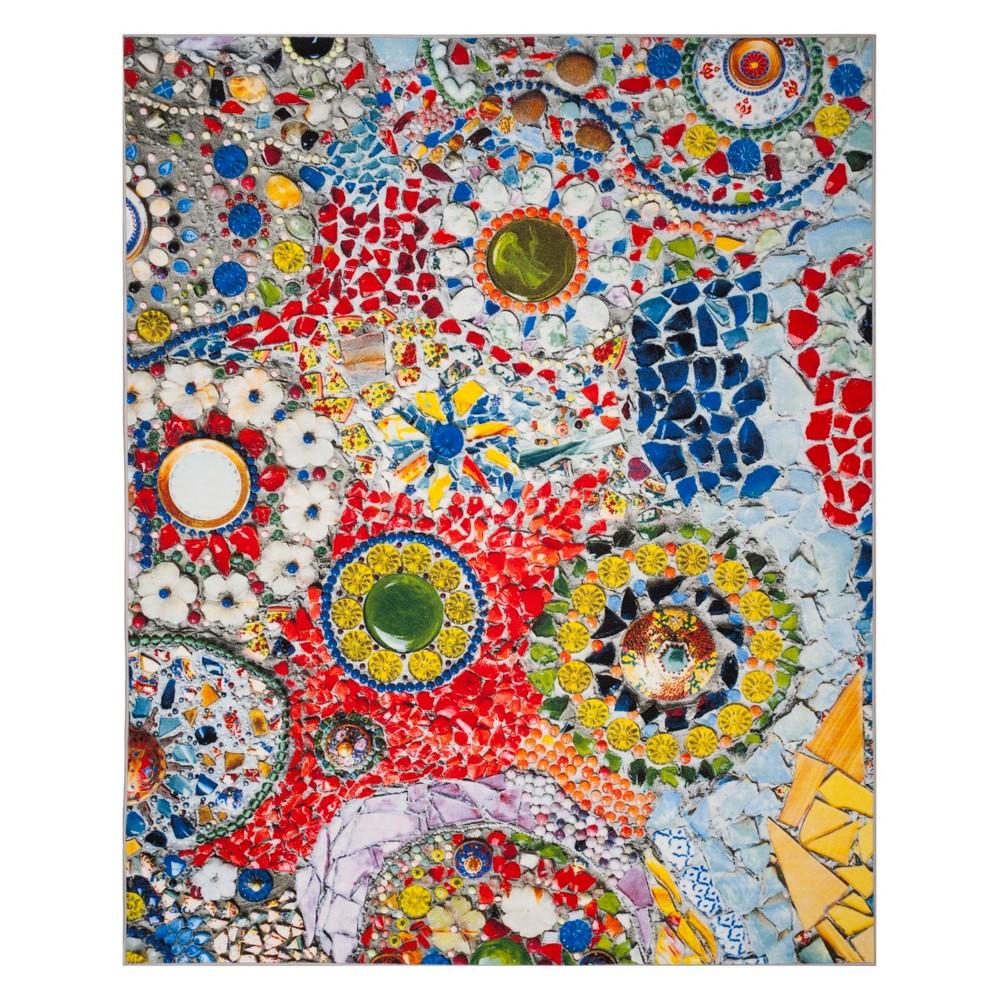 8'X10' Mosaic Design Loomed Area Rug Light Gray - Safavieh, Multicolored