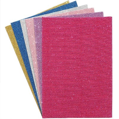 Bright Creations 30 Sheets Glitter Sparkle Shinny Cardstock Card Stock Paper for Arts Crafts, 8 x 11 in.