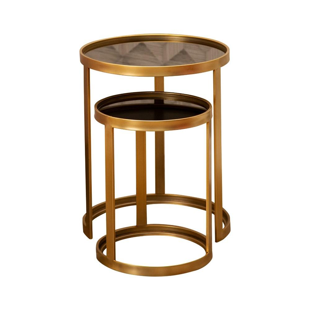 Lexington Nesting End Tables (Set of 2) Gold - Abbyson Living