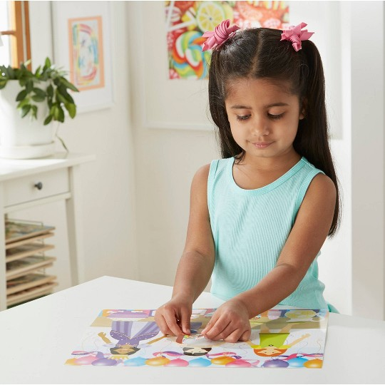 Melissa & Doug Sticker Pads Set: Jewelry and Nails, Dress-Up, Make-a-Face, Favorite Themes - 1225+ Stickers image number null