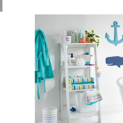 Bright Kids Bathroom with Functional Storage Collection
