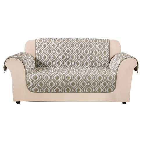 Furniture Flair Ogee Loveseat Cover Tan Sure Fit Target