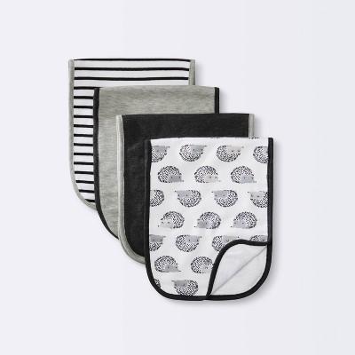 Baby 4pk Burp Cloth Set - Cloud Island™ Black/White