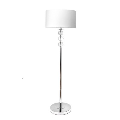 "nuLOOM Branson 62"" Crystal Floor Lamp Lighting - Silver 62"" H x 16"" W x 16"" D"