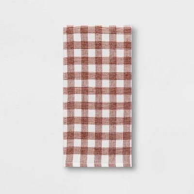 Check Dual Sided Terry Towel Orange - Threshold™