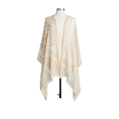 DEMDACO Butterfly Burnout Scarf - Taupe White