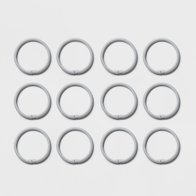 Plastic Shower Rings Gray - Room Essentials™
