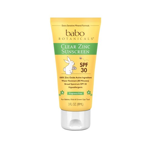 Babo Botanicals Clear for Babies Fragrance Free Zinc Sunscreen Lotion - SPF 30 - 3.0oz - image 1 of 4