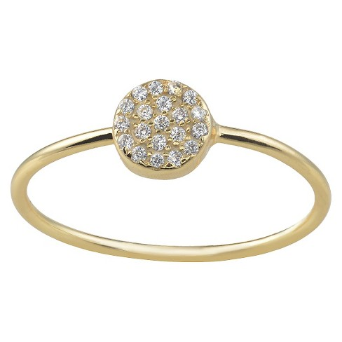 0.14 CT. T.W. Journee Collection Round Cut CZ Pave Set Circle Ring in Sterling Silver - image 1 of 3