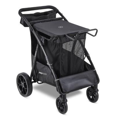 Jovvy Platoon Large Utility Portable Shopping Cart Outdoor Gear Wagon - Black
