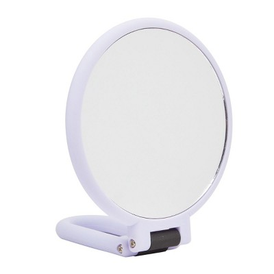 Glamlily Purple Hand Held Magnifying Mirror for Makeup, Travel, 1/10x Magnification (5.35 in)