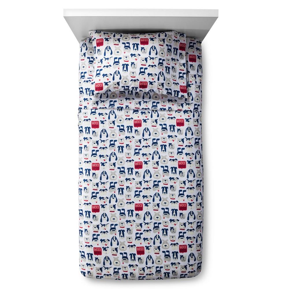Curious Canines Sheet Set - Twin - 3 pc - Blue - Pillowfort, Blue Gray