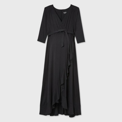 Long Sleeve Knit Wrap Maternity Dress - Isabel Maternity by Ingrid & Isabel™