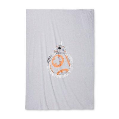 Star Wars® Gray & Orange Bed Blanket (Twin)