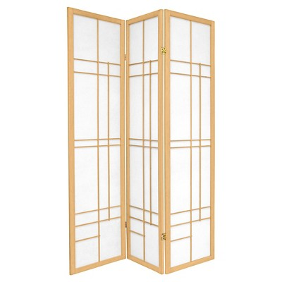 6 ft. Tall Eudes Shoji Screen - Natural (3 Panels)