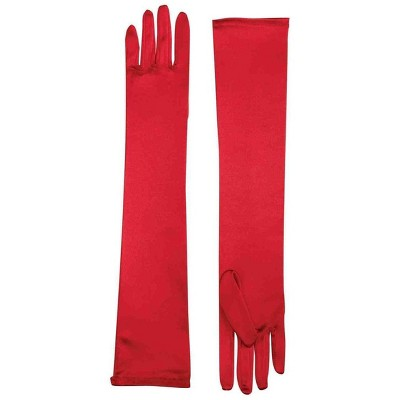 Forum Novelties Long Red Adult Female Costume Satin Dress Gloves