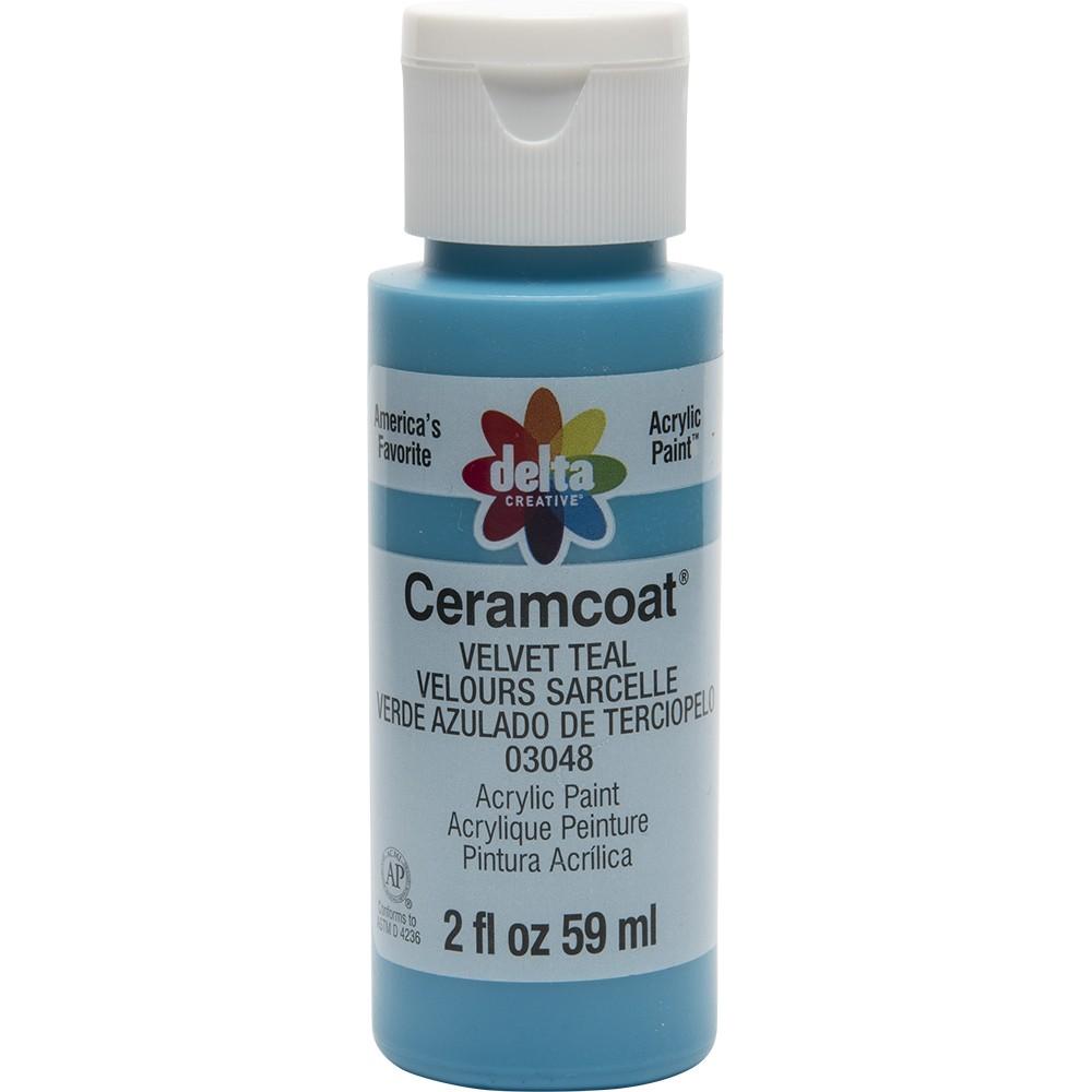 2 fl oz Acrylic Craft Paint Velvet Teal - Delta Ceramcoat