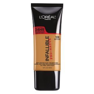 L'Oreal® Paris Infallible Pro-Matte Foundation 108 Caramel Beige 1 fl oz