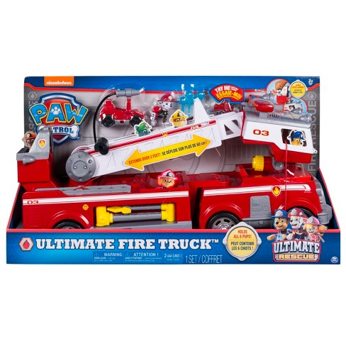 paw patrol ultimate fire truck target