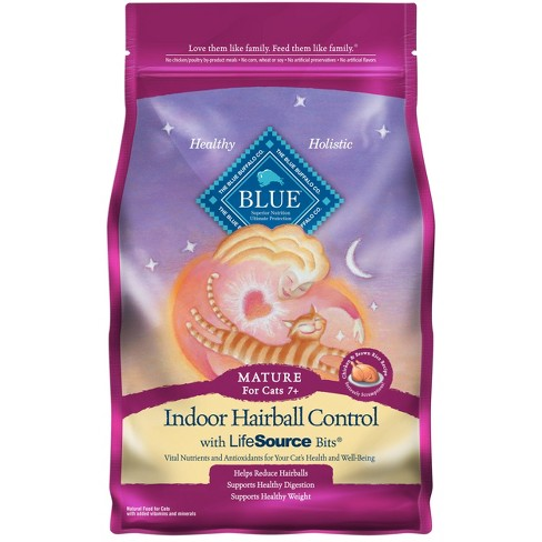Blue Buffalo Indoor Hairball Control with Chicken & Brown Rice Mature Premium Dry Cat Food - 7lbs - image 1 of 4