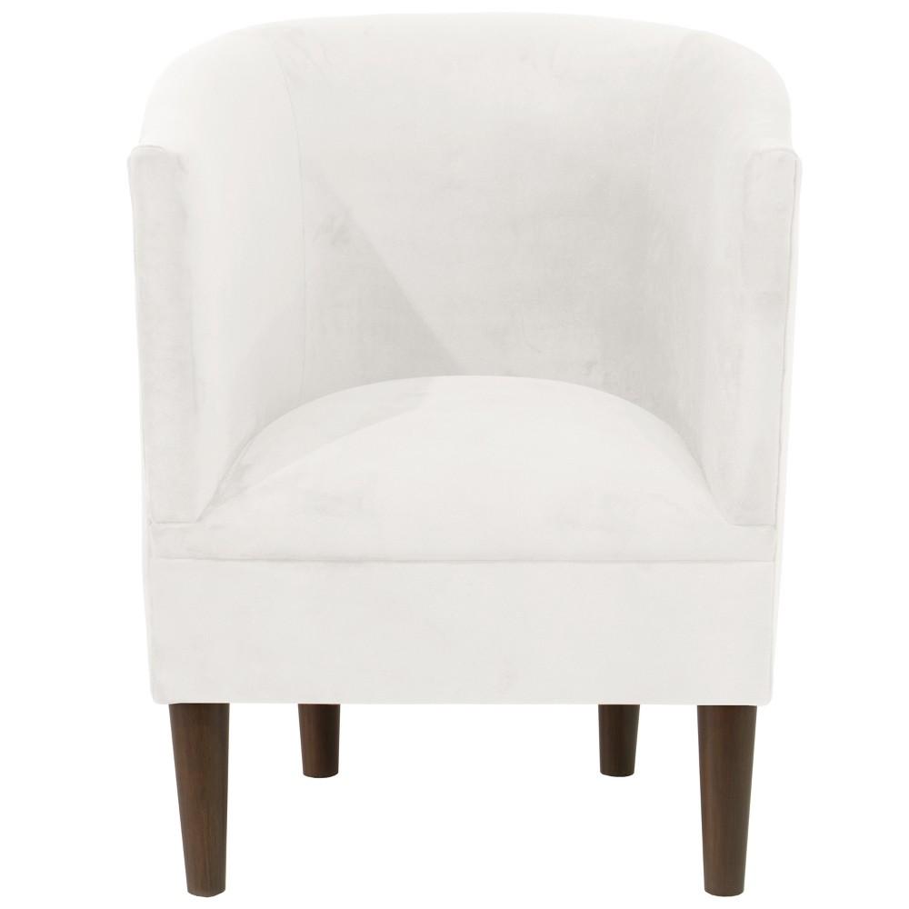 Tub Chair Velvet White - Skyline Furniture