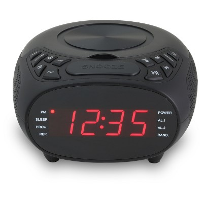 "GPX CD Clock/FM Radio, 1.2"" Display, Dual Alarm"
