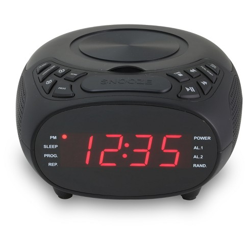 "GPX CD Clock Radio, AM/FM, 1.2"" Display, Dual Alarm - image 1 of 2"